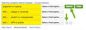 images of search strategy in Academic Search Complete