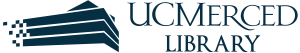 Library logo with graphic (blue)