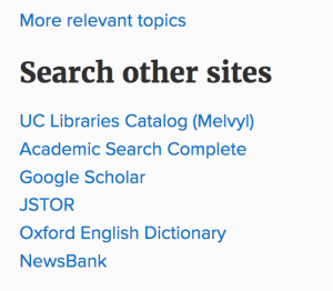 Search other sites